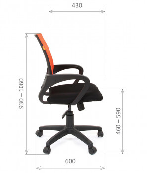 Кресло офисное CHAIRMAN 696 Black 3