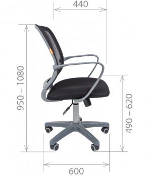 Кресло офисное CHAIRMAN 698 Grey 3